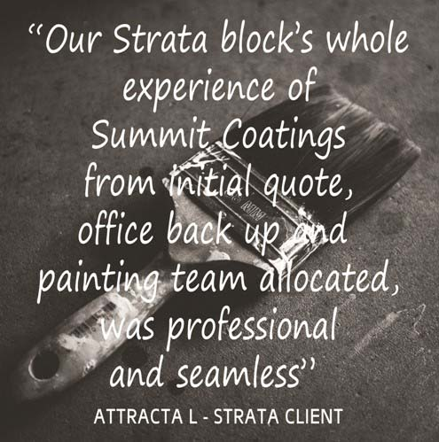Testimonial for Strata painters Sydney Summit Coatings