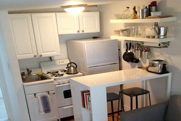 Small kitchen advice tips from interior painters Sydney with white cabinets at Summit Coatings