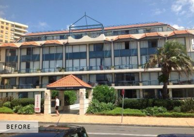 BEFORE PHOTO Finalist for the MPA Multi-Unit Residential Repaint in 2013, Manly