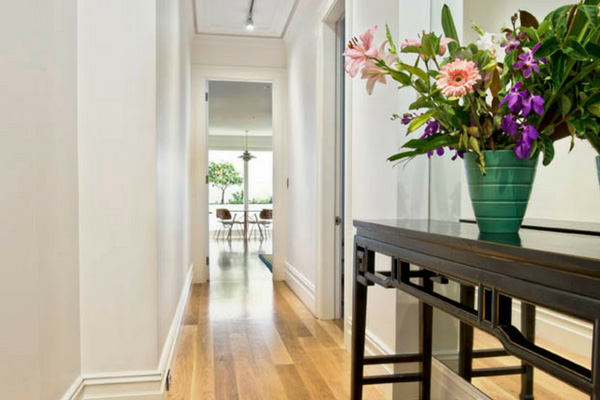 How colour can change small spaces for example a hallway with North Shore Sydney painters Summit Coatings