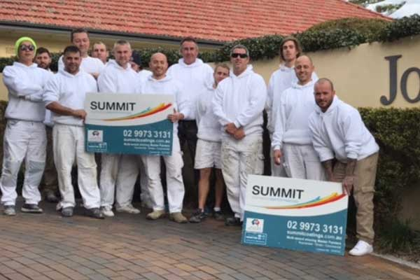 Our commercial painters Sydney Summit Coatings team