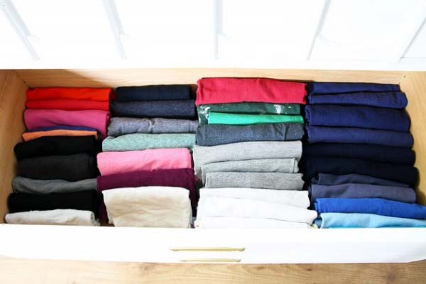 Konmari folding clothes method will declutter your North Shore home with residential painters Summit Coatings