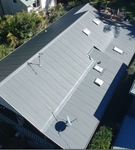 roof painting and roof restoration after Summit Coatings Sydney transformed their roof