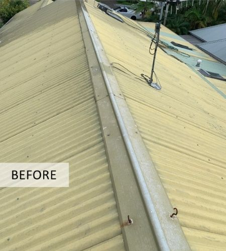roof restoration before summit coatings of northern beaches transformed their roof